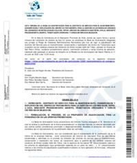 Acta Tercera de la Mesa de Contratación para el contrato de servicio para el mantenimiento, conservación y explotación del C.T.R.